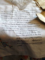 The Reluctant Bride printed hankerchief
